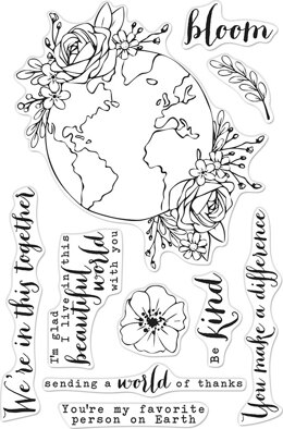 "Hero Arts Clear Stamps 4""X6"" - Beautiful World"