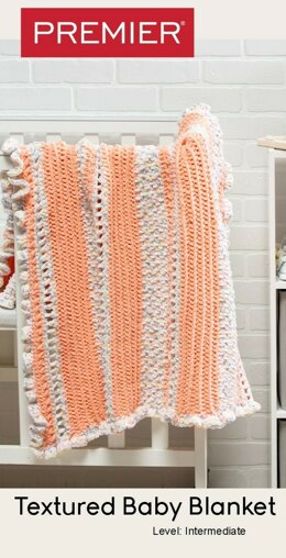 Textured Baby Blanket in Premier Yarns Parfait Big & Parfait Flavors - Downloadable PDF