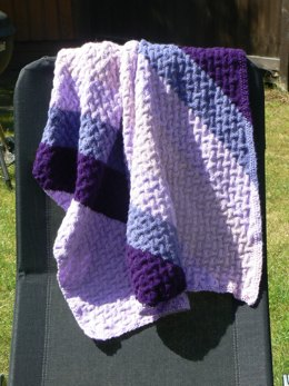 Easy Peasy Cabled Baby Blanket