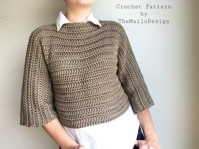 40e2caf7c98bec Adult Oversized Fit Sweater Crochet pattern by TheMailoDesign ...