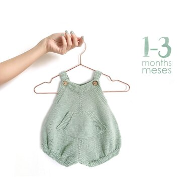1-3 months - Pickles Knitted Romper