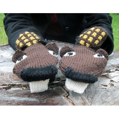 Busy Beaver Mittens