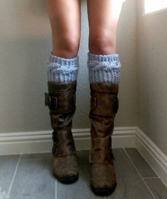 Chunky Cable Knit Boot Cuff Pattern
