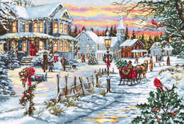 Luca-S Christmas Eve Counted Cross Stitch Kit - 48cm x 33cm