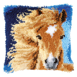 Vervaco Chestnut Brown Horse Latch Hook Rug Kit
