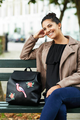 5TH Avenue - Parrot and Roses Rucksack in Anchor - Downloadable PDF