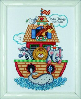 Design Works Noah's Ark Birth Sampler Cross Stitch Kit