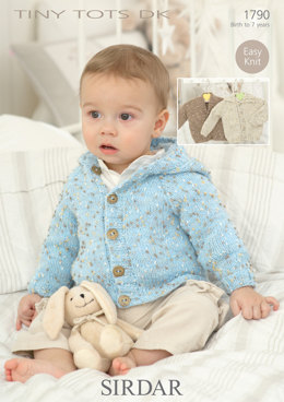 Cardigans and Jacket in Sirdar Snuggly Tiny Tots DK - 1790