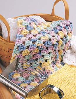 Granny Square Dishcloth in Bernat Handicrafter Cotton Solids