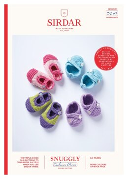 Shoes in Sirdar Snuggly Baby Cashmere Merino DK - 5249 - Downloadable PDF