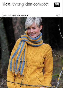 Sweater in Rico in Essentials Soft Merino Aran - 028