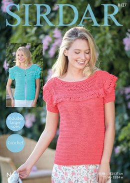 Cardigan & Top in Sirdar No.1 - 8127 - Downloadable PDF