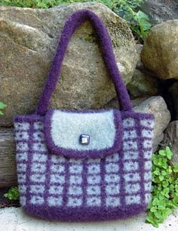 Dot-in-Box Felted Bag