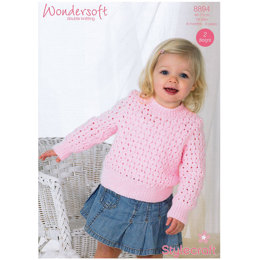 Girl's Jumper in Stylecraft Wondersoft DK - 8894