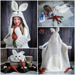 Hooded Woodland Rabbit Blanket