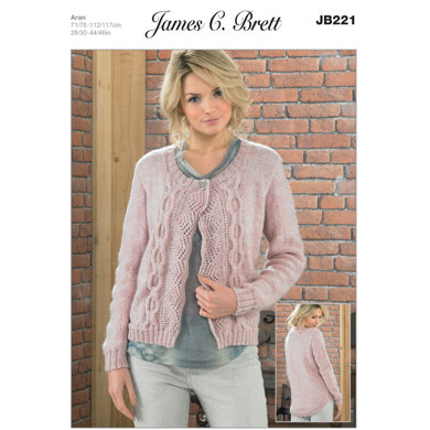 Ladies' Jacket in James C. Brett Aztec Aran - JB221