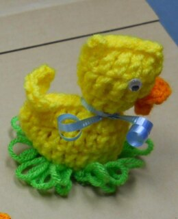 Easter Duck on Grass