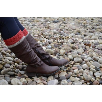 Sock Monkey Boot Cuffs