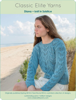 Diana Pullover in Classic Elite Yarns Solstice - Downloadable PDF