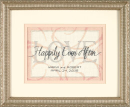 Dimensions Happily Ever After Wedding Record Cross Stitch Kit - 18cm x 13cm