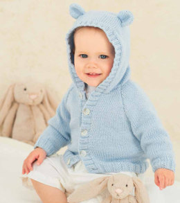 Cardigan with Collar or Hood and Hat in Rico Baby Classic DK - 092