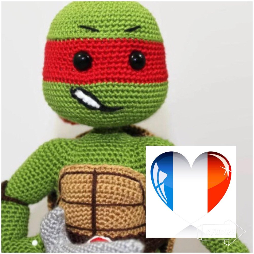 Teenage Mutant Ninja Turtles Are Awesome in Amigurumi! - FREE ... | 1000x1000