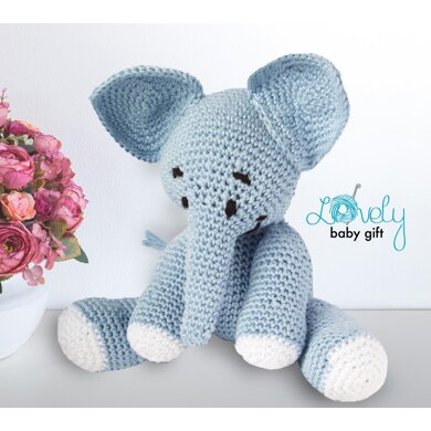 Amazon.com: Baosity Blue Elephant Amigurumi Crochet Kit Stuffed ... | 390x390