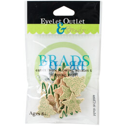 Eyelet Outlet Shape Brads 12/Pkg - Cookies