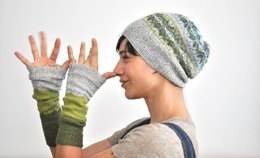 Green Memories Hat & Armwarmers Set