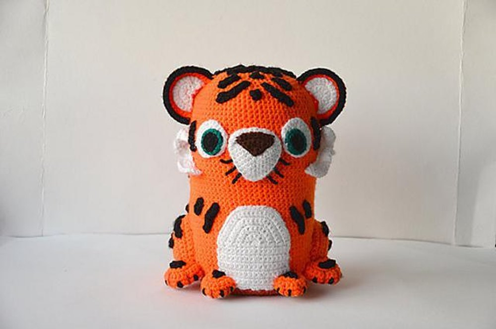 Tuba The Tiger Large Amigurumi Zoo Animal Jungle