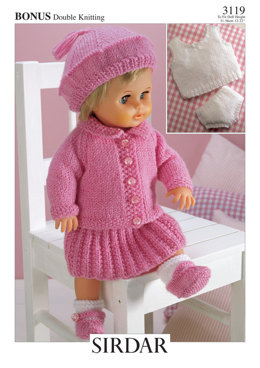 Doll's Outfit in Hayfield Bonus DK - 3119 - Downloadable PDF