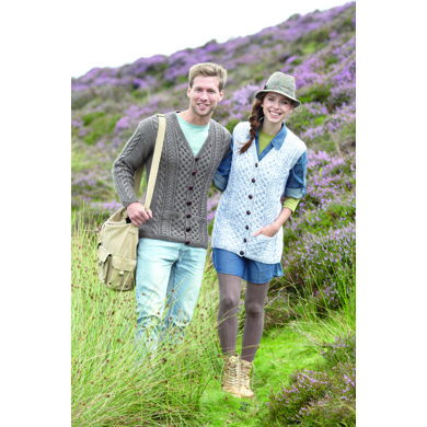 Cardigan and Waistcoat in Hayfield Aran with Wool - 7064