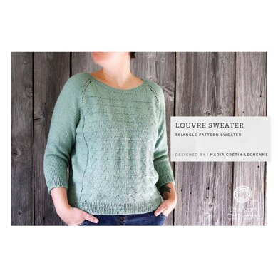 Louvre Sweater by Nadia Crétin-Léchenne in The Yarn Collective  - Downloadable PDF