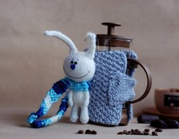 White Hare Good Morning French Coffee Press Coffee Cozy