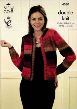 Edge to Edge Cardigan and Waistcoat in King Cole Shine DK - 4080
