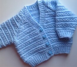 Waves of Love baby cardigan