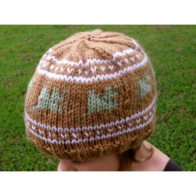Falling Leaves Knit Hat