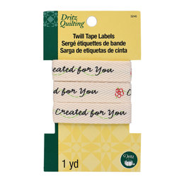 "Dritz Quilting Twill Tape Labels 36"" - Created For You"