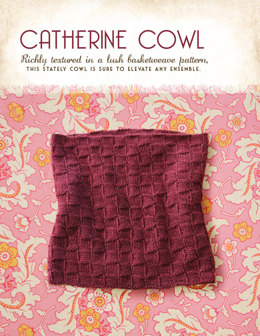 Catherine Cowl in Blue Sky Fibers Royal Petites - 1256 - Downloadable PDF