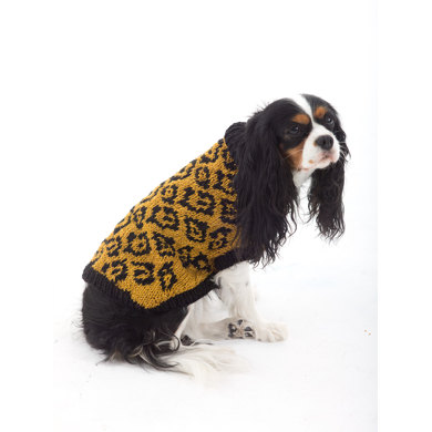 Animal Lover Dog Sweater in Lion Brand Vanna's Glamour - L32370