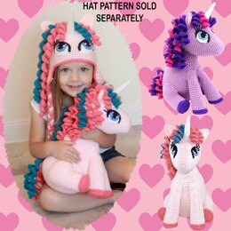 Stuffed Amigurumi Unicorn Toy