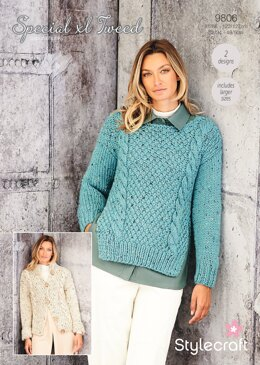 Women Jumpers in Stylecraft Special XL Tweed - 9806 - Downloadable PDF
