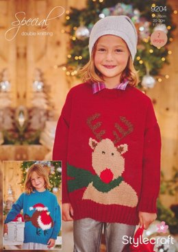 Christmas Jumpers in Stylecraft Special DK and Eskimo DK - 9204