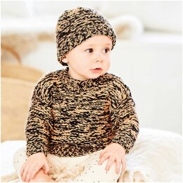 Baby's Hat and Jumper in Rico Baby Dream Luxury Touch Uni DK - 1035 - Downloadable PDF