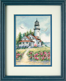 Dimensions Scenic Lighthouse Cross Stitch Kit - 18cm x 13cm
