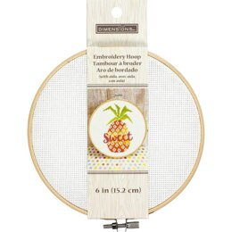 Dimensions Embroidery Hoop W/Aida 6in White