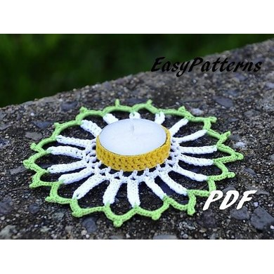 Daisy Candle Holder Pattern