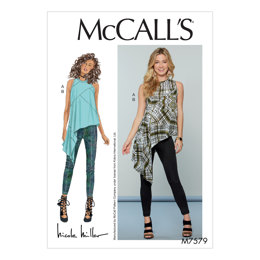McCall's Misses' Asymmetrical, Seam-Detail Top and Pants M7579 - Sewing Pattern