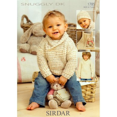 Childrens Sweaters, hat and Blanket in Sirdar Snuggly DK -1785