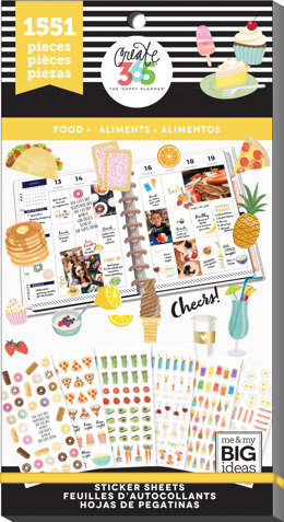 Me & My Big Ideas Happy Planner Sticker Value Pack - Food, 1551/Pkg